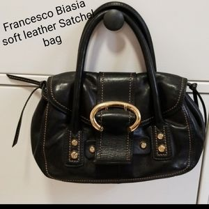 💗EUC Francesco Biasia leather Satchel handbag